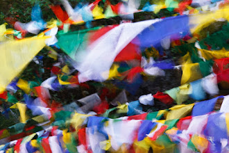 Photo: Prayer flags flapping in the breeze at the Tiger's Nest Monastery. Paro, Bhutan