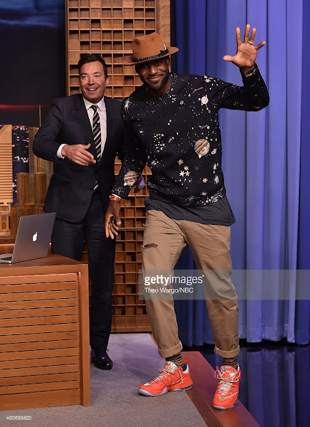 LBJ Unveils New Trainwreck LeBron 12 Low on Jimmy Fallon