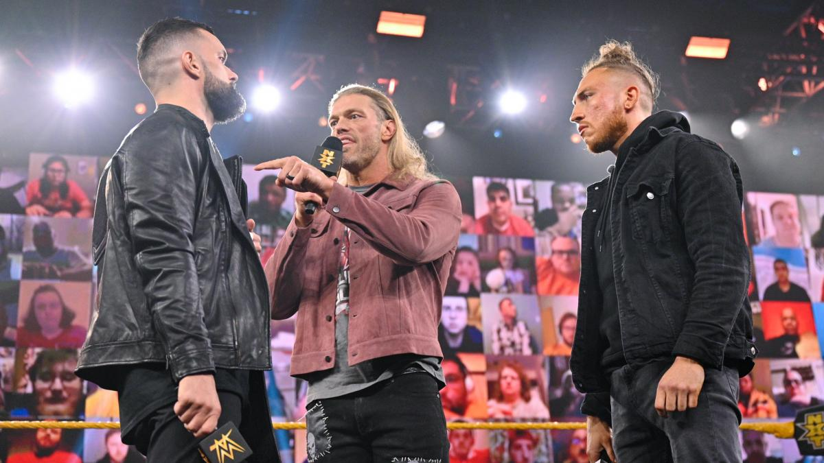 Edge, Finn Balor, and Pete Dunne on WWE NXT