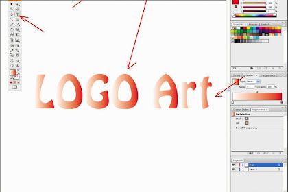 Membuat logo teks