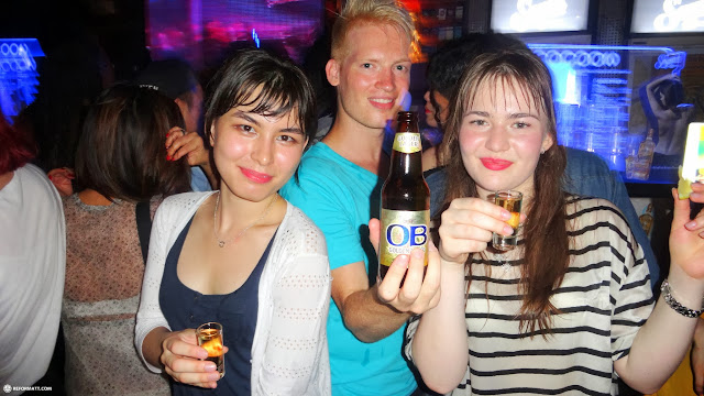 tequila shots and OB beer with Team Kazahkstan in Seoul, Seoul Special City, South Korea