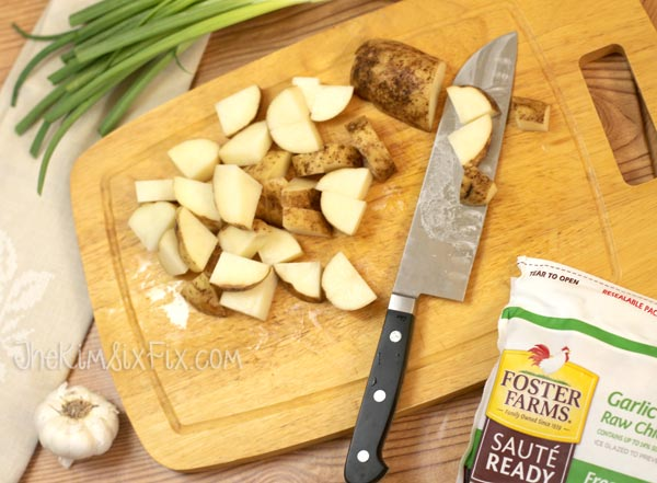 Cutting potatos for recipe