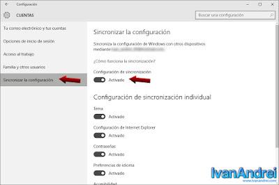 Configuración de sincronización - sincronizar la configuración