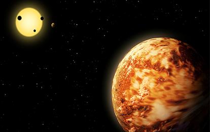 ilustração do exoplaneta Kepler-150 f