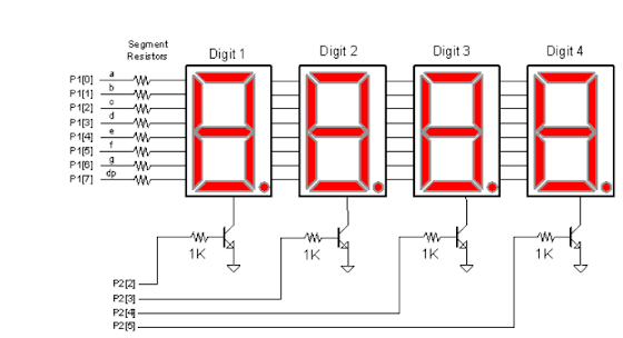 multiplexar display 7 segmentos