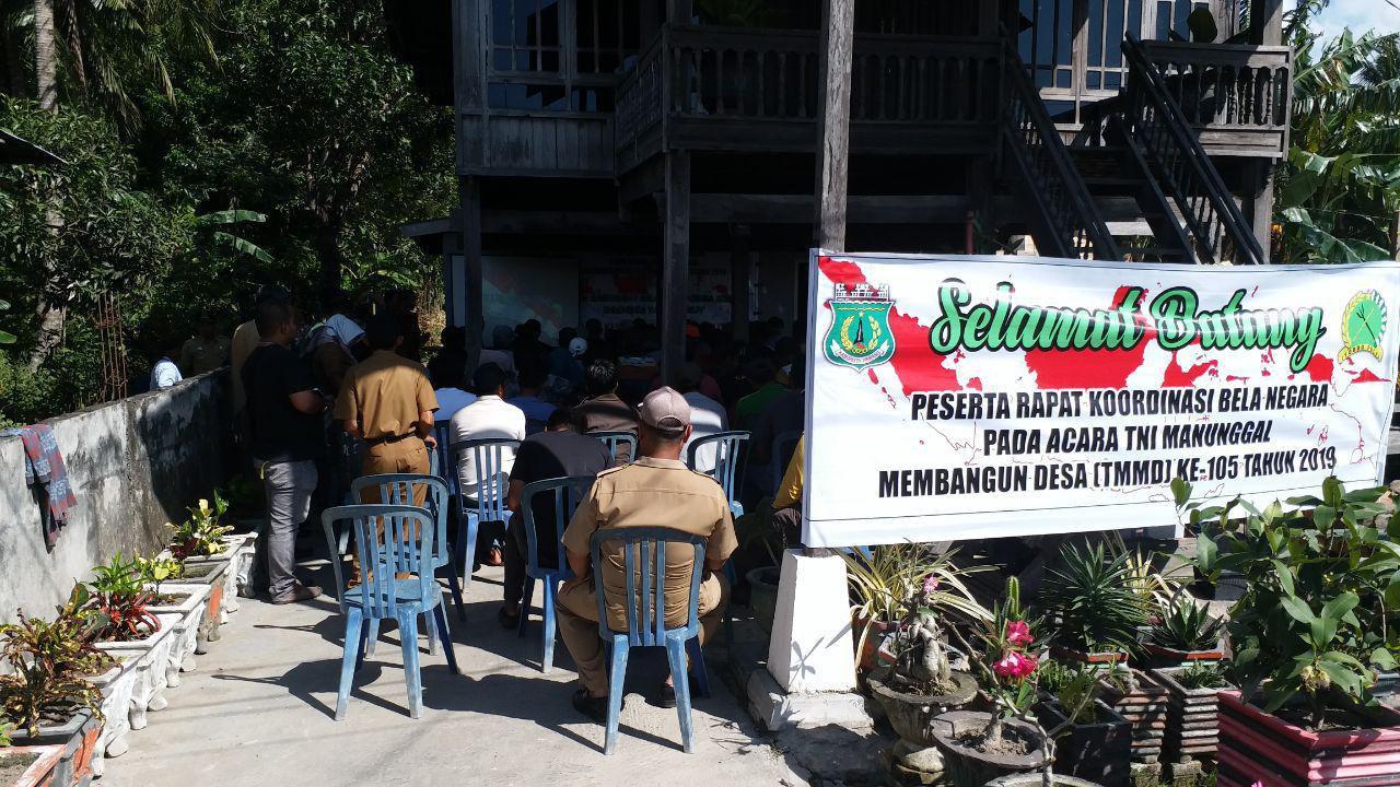 Satgas TMMD Kodim 1404/Pinrang Gelar Rapat Koordinasi Bela Negara