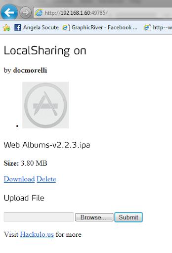 การใช้งาน LocalSharing ใน Installus เพื่อถ่ายโอนไฟล์ IPA Ips-023