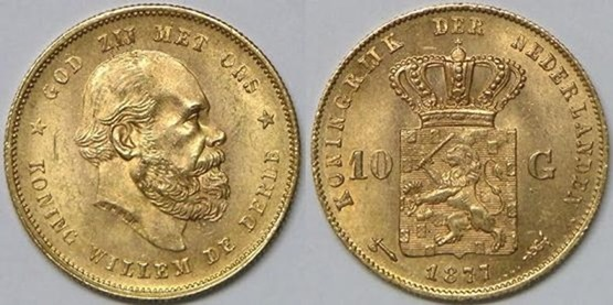 NETHERLANDS William III  1877