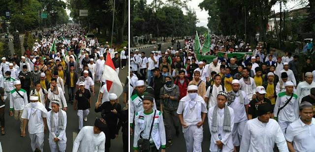 Umat islam jawa barat demo ahok di gedung sate