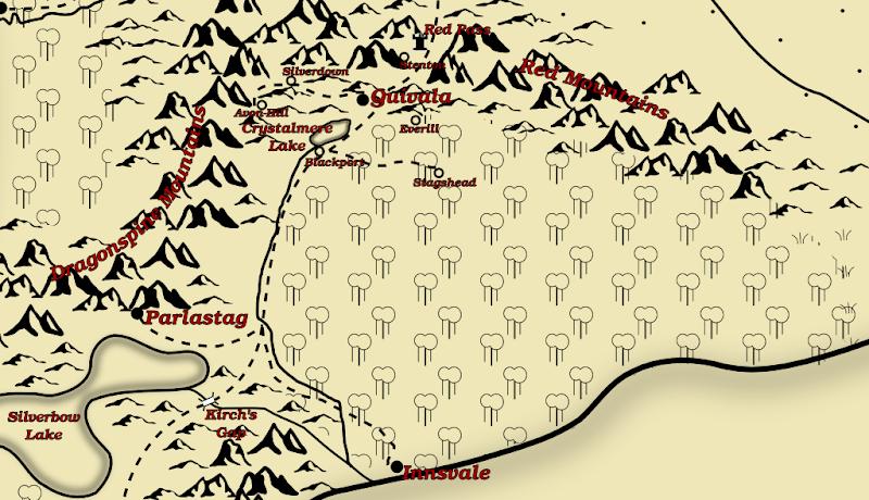 Region around Quivala, 1282 EY