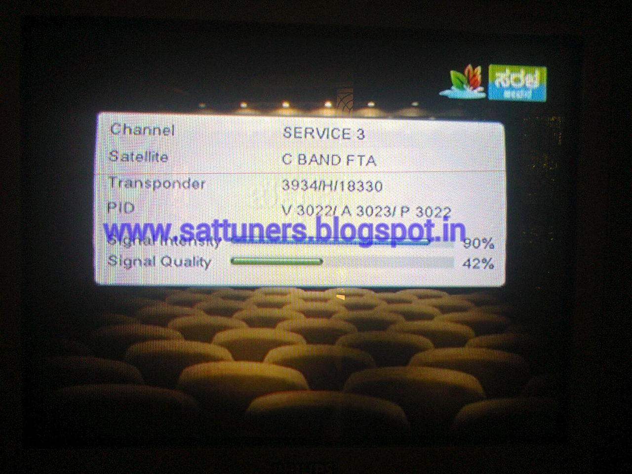 Fox Movies, Fox Family  FX Test cards on new freq on ABS2 74 9* East