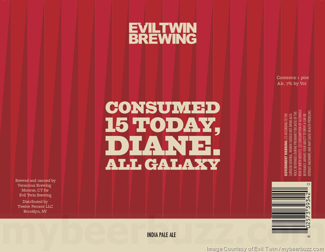 Evil Twin - Consumed 15 Today, Diane All Galaxy