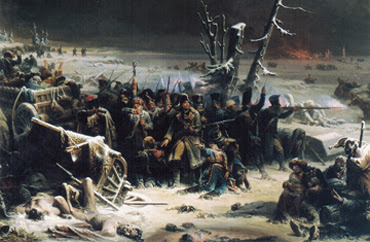 Marshal Ney supporting the Rear Guard during the Retreat from Moscow - Adolphe Yvon