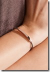 Monica Vinader Rose Gold and Woven Bracelet
