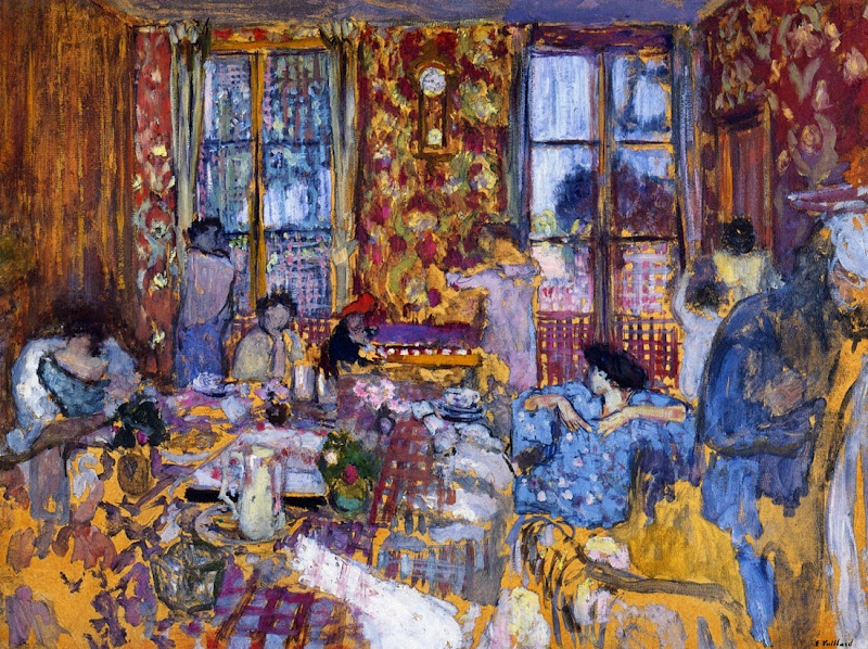 Édouard Vuillard - Breakfast at Villerville,1910