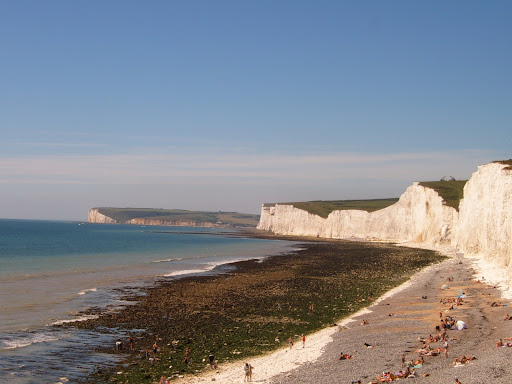 Birling Gap on August Bank Holiday