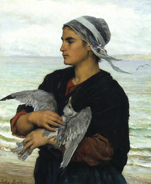 Jules Breton - The Wounded Sea Gull