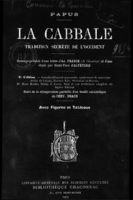 Cover of Papus's Book La Cabbale (1903,in French)