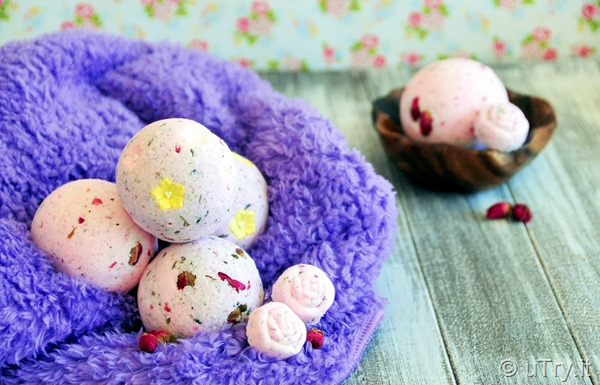 DIY Homemade Lavender and Rose Bath Bombs     http://uTry.it