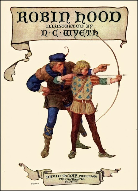 N.C. Wyeth - Robin Hood, title page illustration