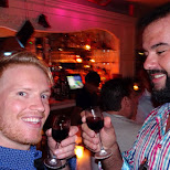 cheers at Bagatelle with my buddy Dan in Miami, Florida, United States