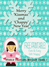 one of my sweet friends asked me to make this merry kissmas and chappy new year printable for her so she could use it for happies for her co workers