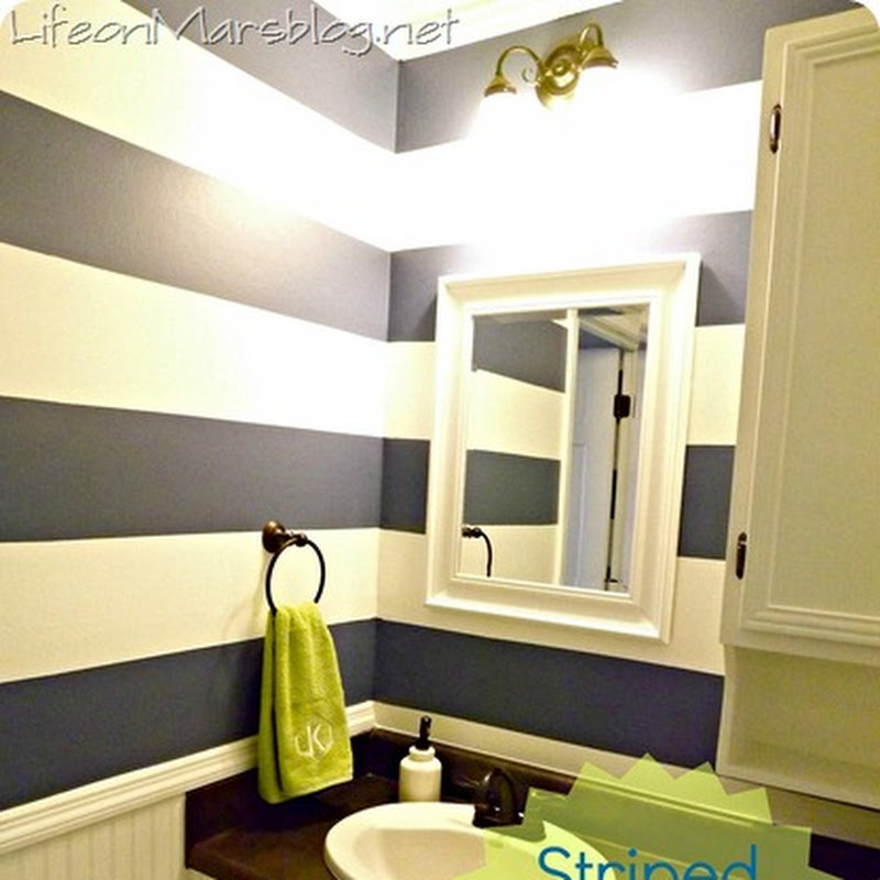 Life on Mars: Striped Bathroom Reveal
