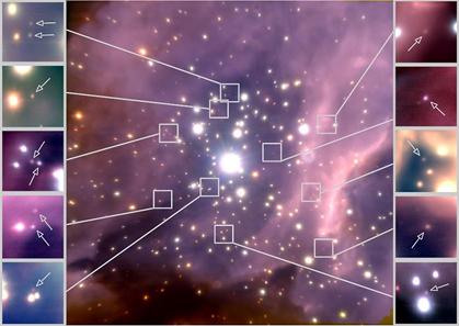RCW 38 e estrelas anãs marrons