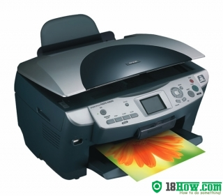 How to reset flashing lights for Epson RX630 printer