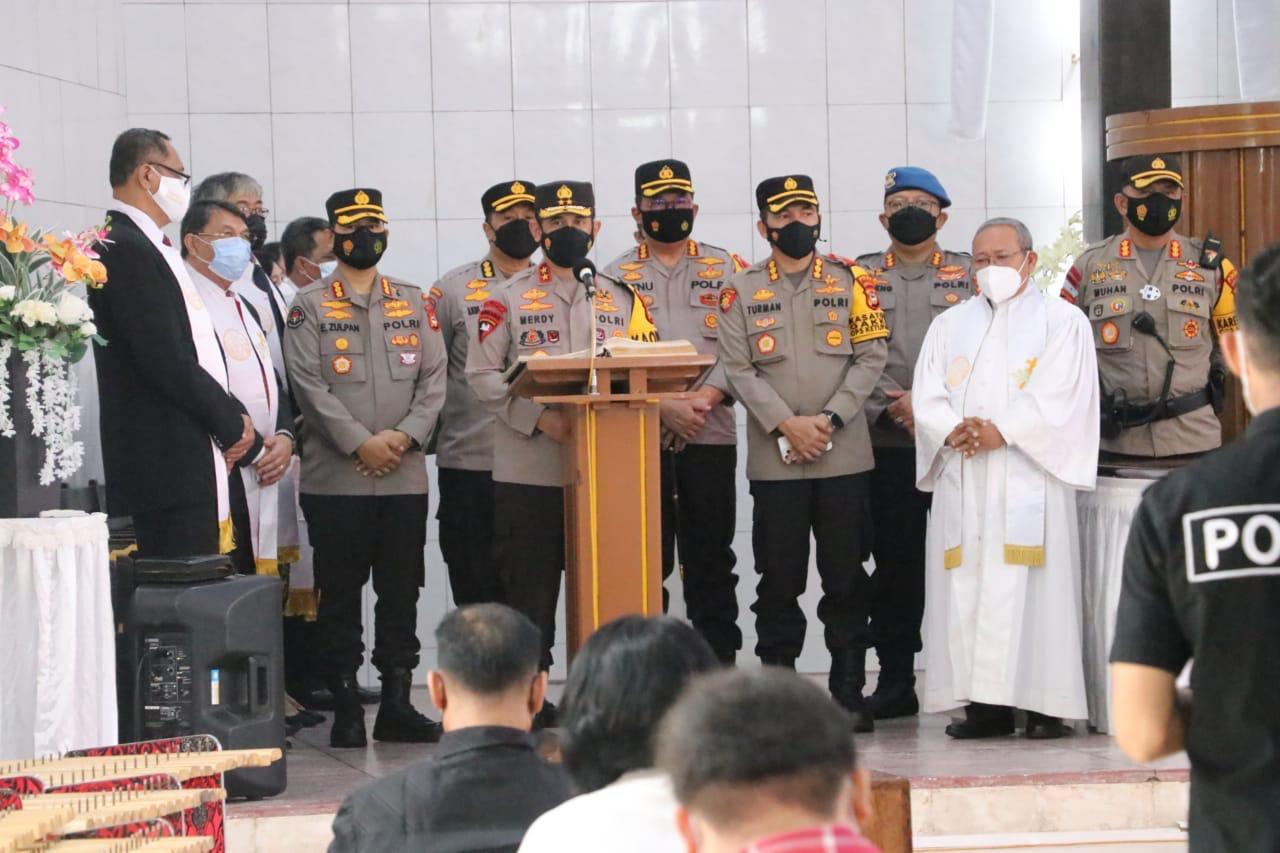 Kapolda Sulsel Ucapkan Selamat Merayakan Hari Kenaikan Isa Al-Masih pada Umat Nasrani