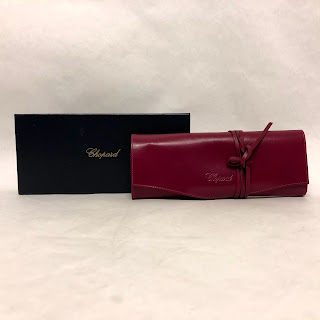 Chopard NEW Fuchsia Leather Jewelry Roll