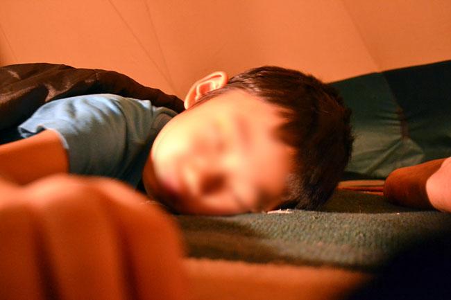 やっと寝てくれましたね…(^^ゞ