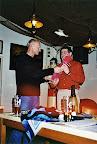 V1 Reinhard Büttner verabschiedet den bisherigen V2 Peter Fischer und sagt Dankeschön für 20 Jahre tolle Arbeit!
