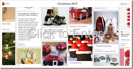 Christmas 2015 Pinterest Board