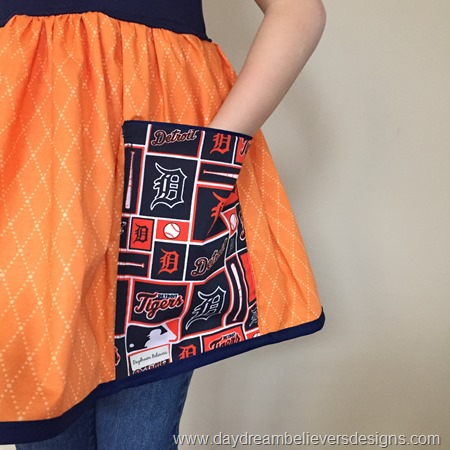 Detroit Tigers Girls Tunic Dress Top Handmade