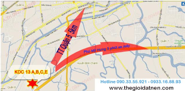 khu 13 1 Bán gấp đất nền nhà phố KDC 13C, Bình Chánh giá 14.5 tr/m2