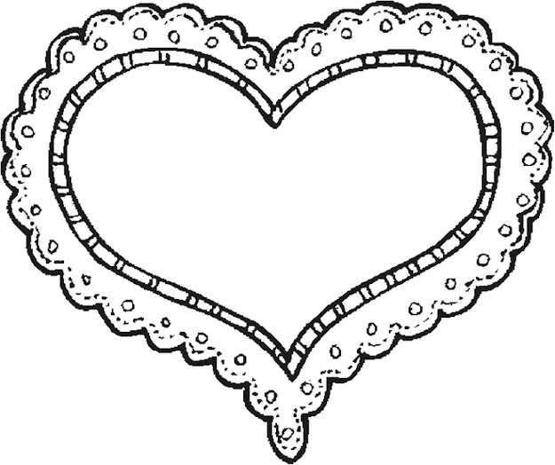 Heart Coloring Page Heart Love You Valentine Valentine