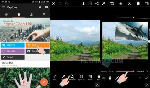 Cara Edit Foto Ada Ikan Hiu dan Paus di Langit Cara Edit Foto Ada Ikan Hiu/Paus di Langit Dengan PicsArt