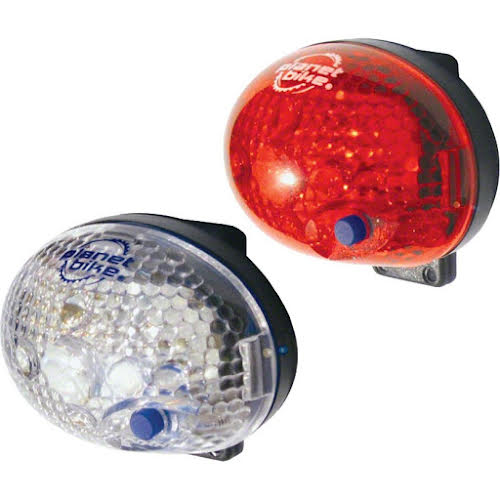 Planet Bike Blinky Safety Lightset Front & Rear with Batteries