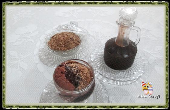 Calda e farofa para sorvete 1