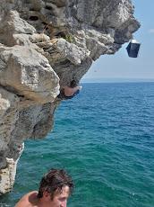 Deep water soloing in Split
