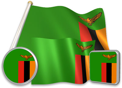 Zambian flag animated gif collection