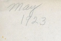 May 1923 Crosby ant back