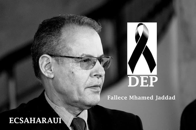El pueblo saharaui prepara el funeral de Mhamed Jadad entre duelo y tristeza