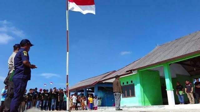 Wartawan Bekasi upacara kemerdekaan Bareng nelayan