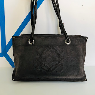 Loewe Suede Leather Logo Bag