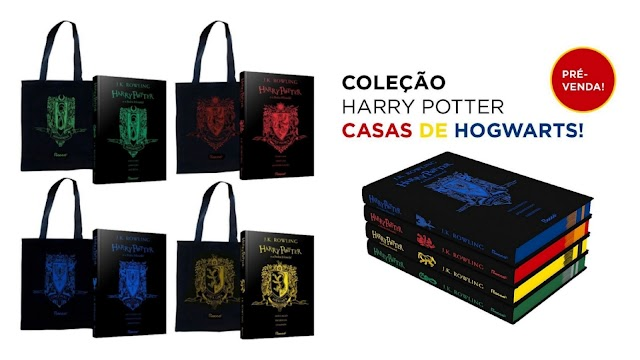 Coleção Livros Harry Potter com capa das Casas de Hogwarts e Bag Grátis em promoção por apenas R$ 48,99 + Cupom de R$ 20 em seu primeiro pedido
