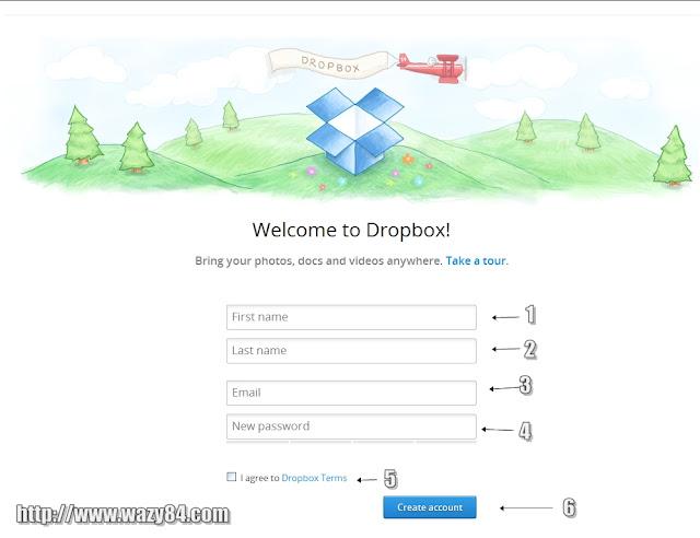 Tutorial Daftar Dropbox