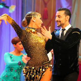 Jesús y Sandra en el XXVI Campeonato Europeo de Baile