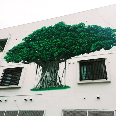 Street art on an building in Chatan, Okinawa